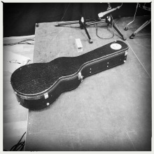 Christoffer's guitar case