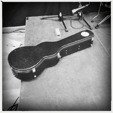 Christoffer's guitar case