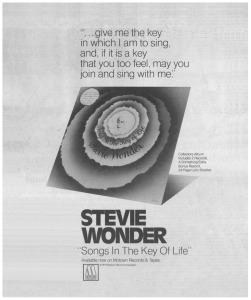 Stevie Wonder album lyrics