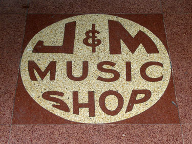 J-and-M Music Shop Logo