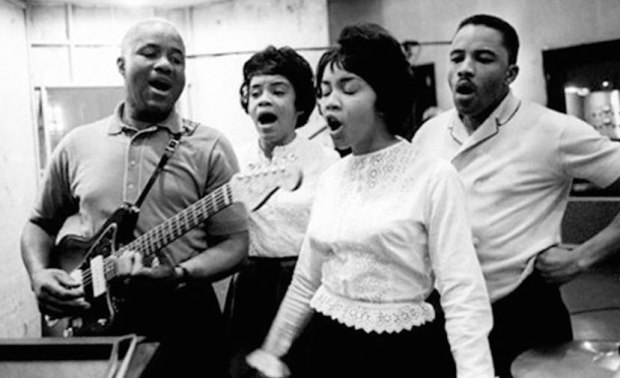 Staple Singers in the studio